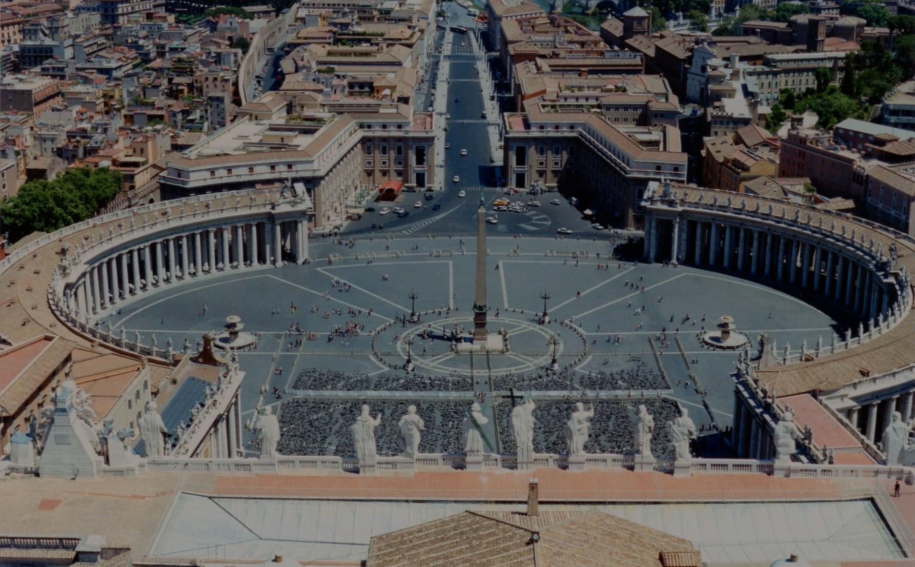 l erezione dell obelisco in piazza s pietro menu
